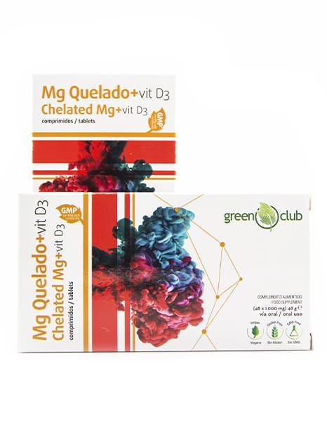 Magnesio Quelado + VIT D3 en comprimidos