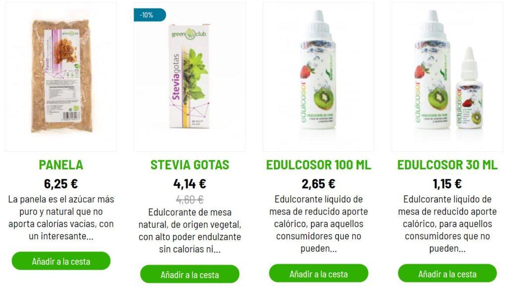 productos sustitutos naturales del azúcar